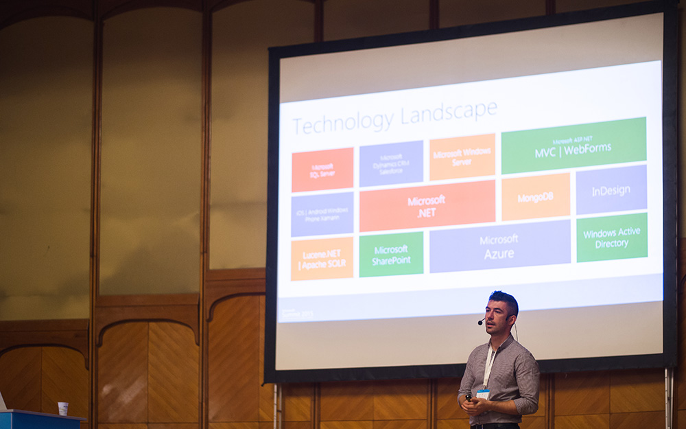 Presenting Sitecore at Microsoft Summit 2015 in Bucharest